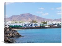 Playa Blanca Seafront, Lanzarote, Spain, Canvas Print