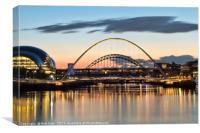 Tyne Bridges at Sunset, Canvas Print