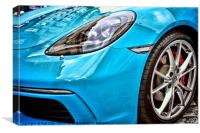 Blue Porsche Sports Car, Canvas Print