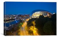 Sage Centre & Millennium Bridge, Newcastle, Canvas Print