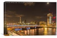 Beetham Tower under construction, Canvas Print