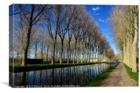 Canal Pathway Belgium, Canvas Print