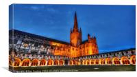 Norwich Cathedral at Night, Canvas Print