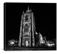 Norwich at Night, Canvas Print