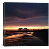 Sunrise over cromer pier, Canvas Print
