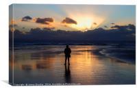 Sunset at Dunraven Bay Glamorgan South Wales, Canvas Print