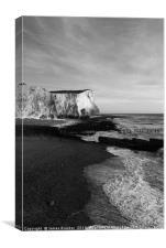 White Chalk Cliffs Seaford Head East Sussex, Canvas Print