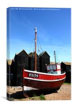 Fishing boat and historic net shops Hastings