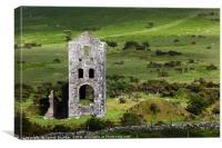 Abandoned Tin Mine near Minions Bodmin Moor, Canvas Print