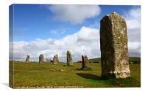 The Hurlers stone circle Bodmin Moor Cornwall, Canvas Print