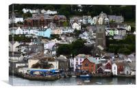 Quaint Coastal Town of Fowey Cornwall, Canvas Print