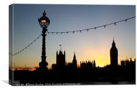 London Sunset Silhouettes