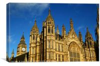 Towers of Palace of Westminster London, Canvas Print