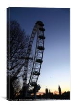 Millennium Wheel and London Skyline at Sunset, Canvas Print