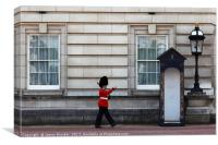 London Guard Stretching His Legs, Canvas Print