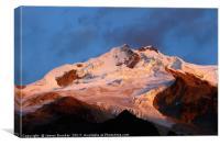 Mt Huayna Potosi Sunrise Cordillera Real Bolivia, Canvas Print