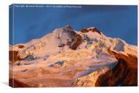 Mt Huayna Potosi Glaciers at Sunrise Bolivia, Canvas Print