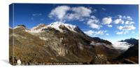 Mt Huayna Potosi and Zongo Valley Bolivia, Canvas Print