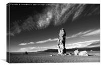 Moais de Tara Rock Formations in Monochrome Chile, Canvas Print