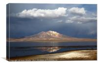 Stormy Skies Over Lake Chungara in Northern Chile, Canvas Print