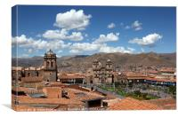 View Over Plaza de Armas Square Cusco Peru, Canvas Print