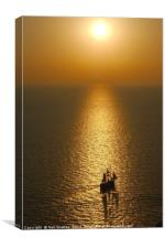 Sea Sunset from Oia, Canvas Print