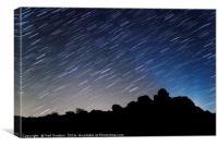 Star Trails over Bonehill Rocks, Canvas Print