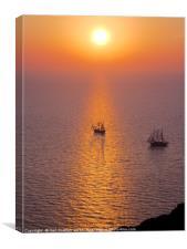 Sunset at Oia, Santorini, Canvas Print