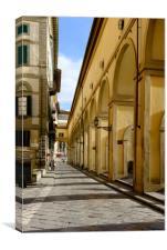 Vasari corridor, Canvas Print