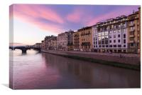 Evening in Florence, Canvas Print