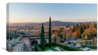 Florence, view from the hill, Canvas Print