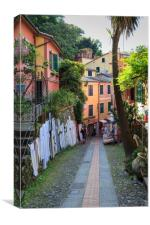 Portofino downhill, Canvas Print