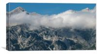 Mountain in the clouds, Canvas Print