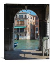 Venice channels, Canvas Print