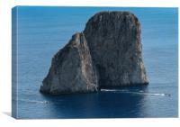 Capri traffic, Canvas Print