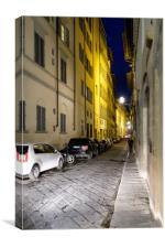 Florance street by night, Canvas Print