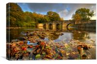 Dipping Bridge at Merthyr Mawr., Canvas Print