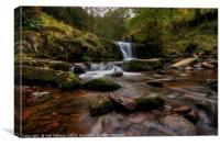 Blaen y Glyn Waterfall, Brecon Beacons , Canvas Print