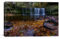 Sgwd Ddwli Isaf, Waterfall Brecon Beacons, Canvas Print