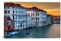 Sunset over the Grand Canal Venice, Canvas Print