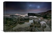 Rockpool, Ogmore by Sea, Canvas Print