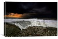 Approaching Storm at Ogmore by Sea, Canvas Print
