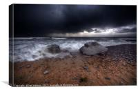 Storm Approaching, Ogmore by Sea, Canvas Print