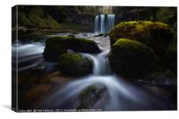 Sgwd yr Eira Waterfall, Canvas Print