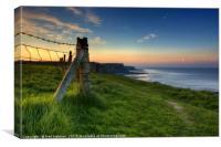Sunrise on the Glamorgan Heritage Coastal Path, Canvas Print