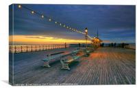 Penarth Pier Sunrise, Canvas Print