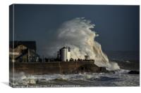 Storm Ophelia hit Porthcawl, Canvas Print