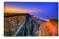 Cliff Stack, Glamorgan Heritage Coast, Canvas Print