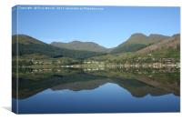 Reflections at Lochgoilhead by Elvia Worrall, Canvas Print