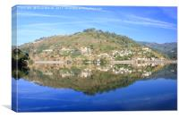 Morning Reflections on River Douro, Portugal, Canvas Print